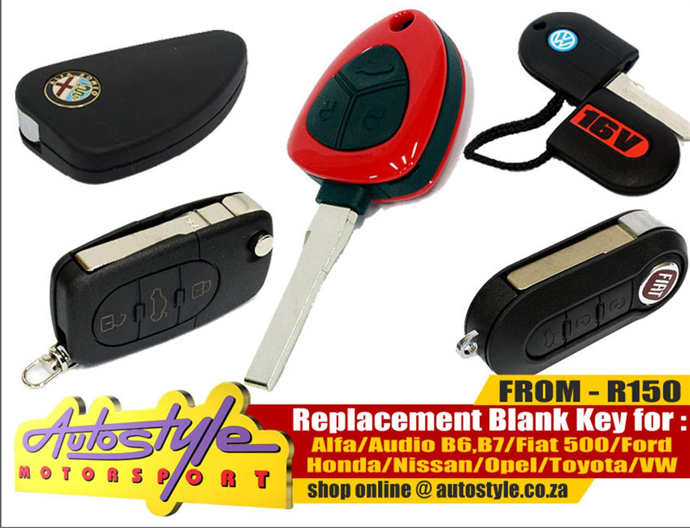 Replacement Brand New Blank Keys, Spare Keys available