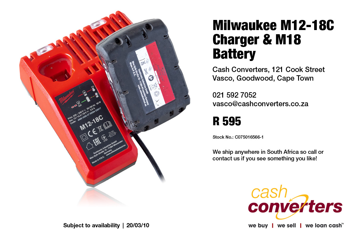 Milwaukee M12-18C Charger & M18 Battery