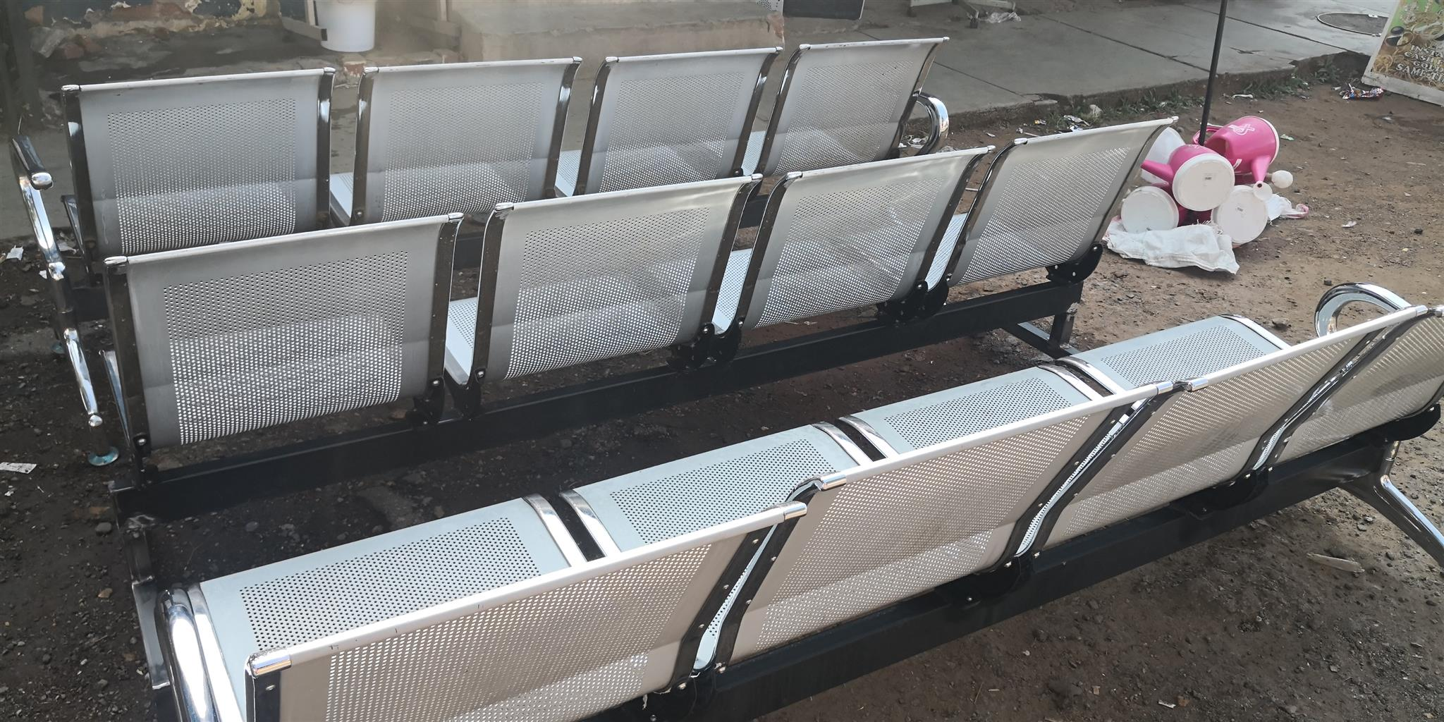 Airport bench or waiting bench