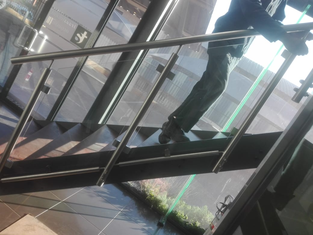 Stainless steel & glass balustrade fabrication