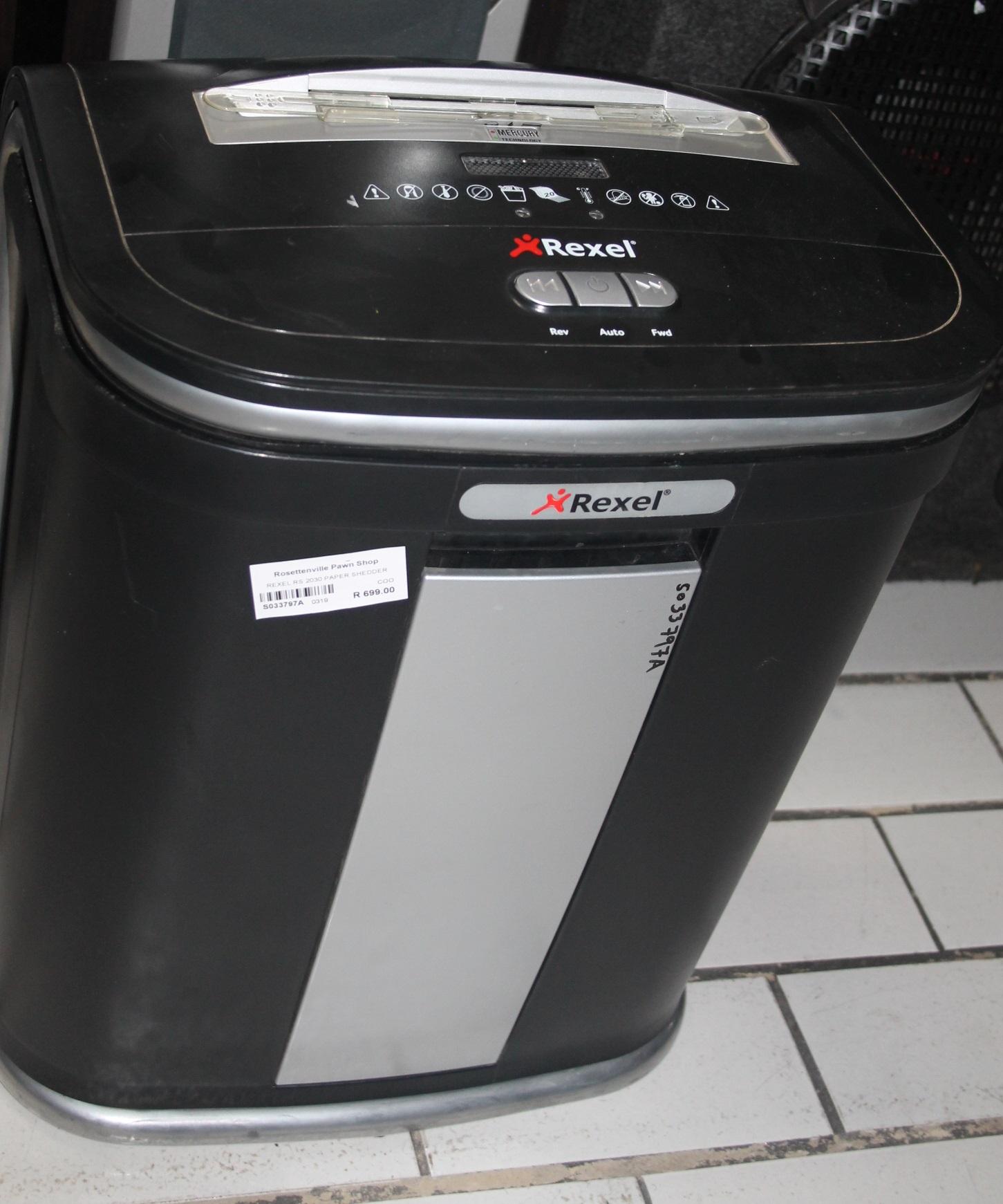 Rexel paper shredder S033797A #Rosettenvillepawnshop