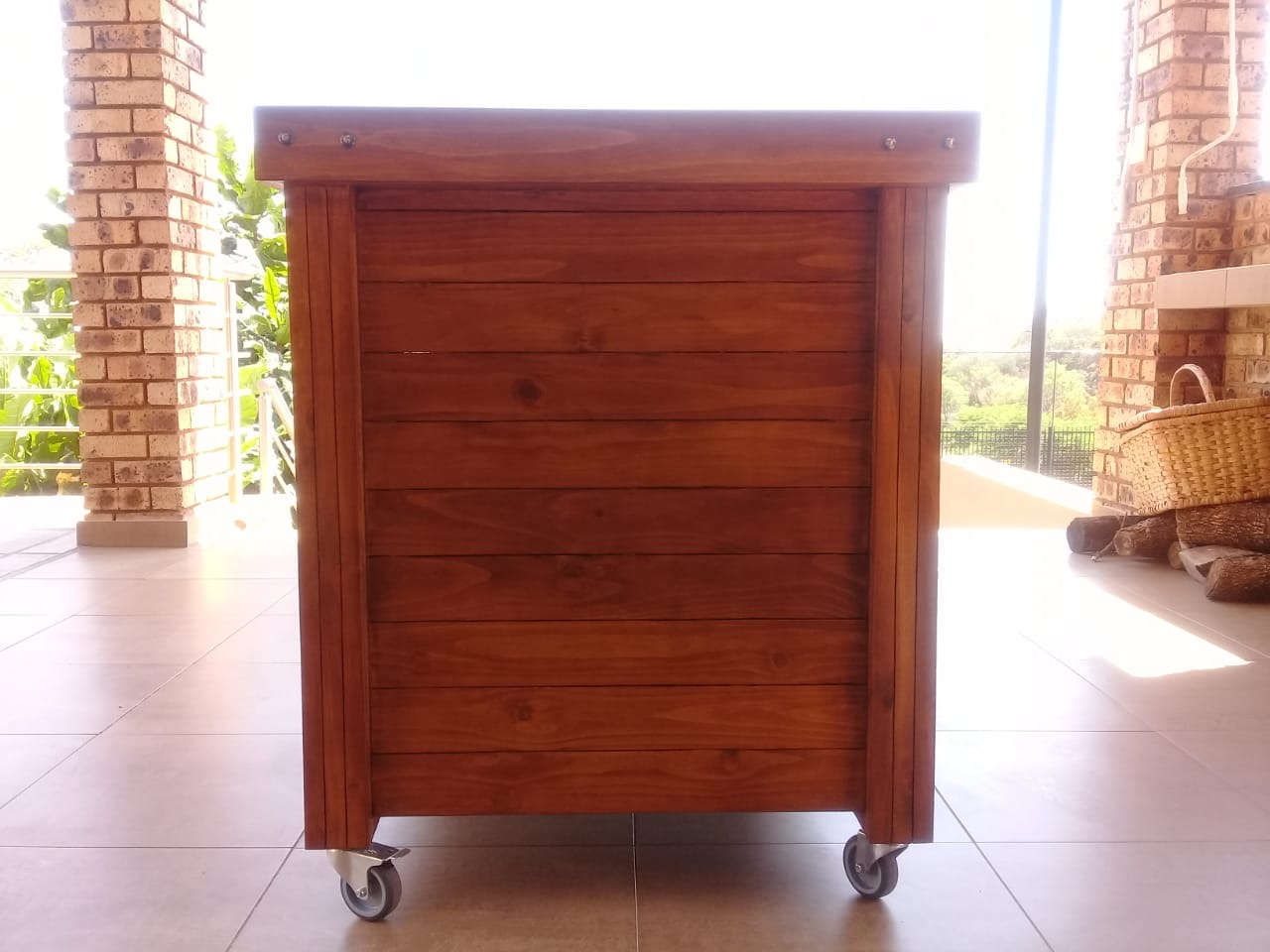 Braai trolley Farmhouse series 1200 Mobile - Stained