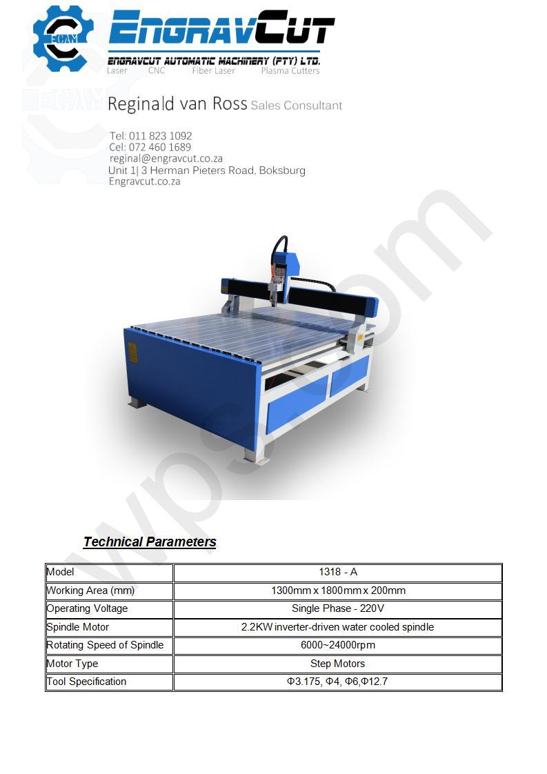 CNC Router Machine EC 1318A