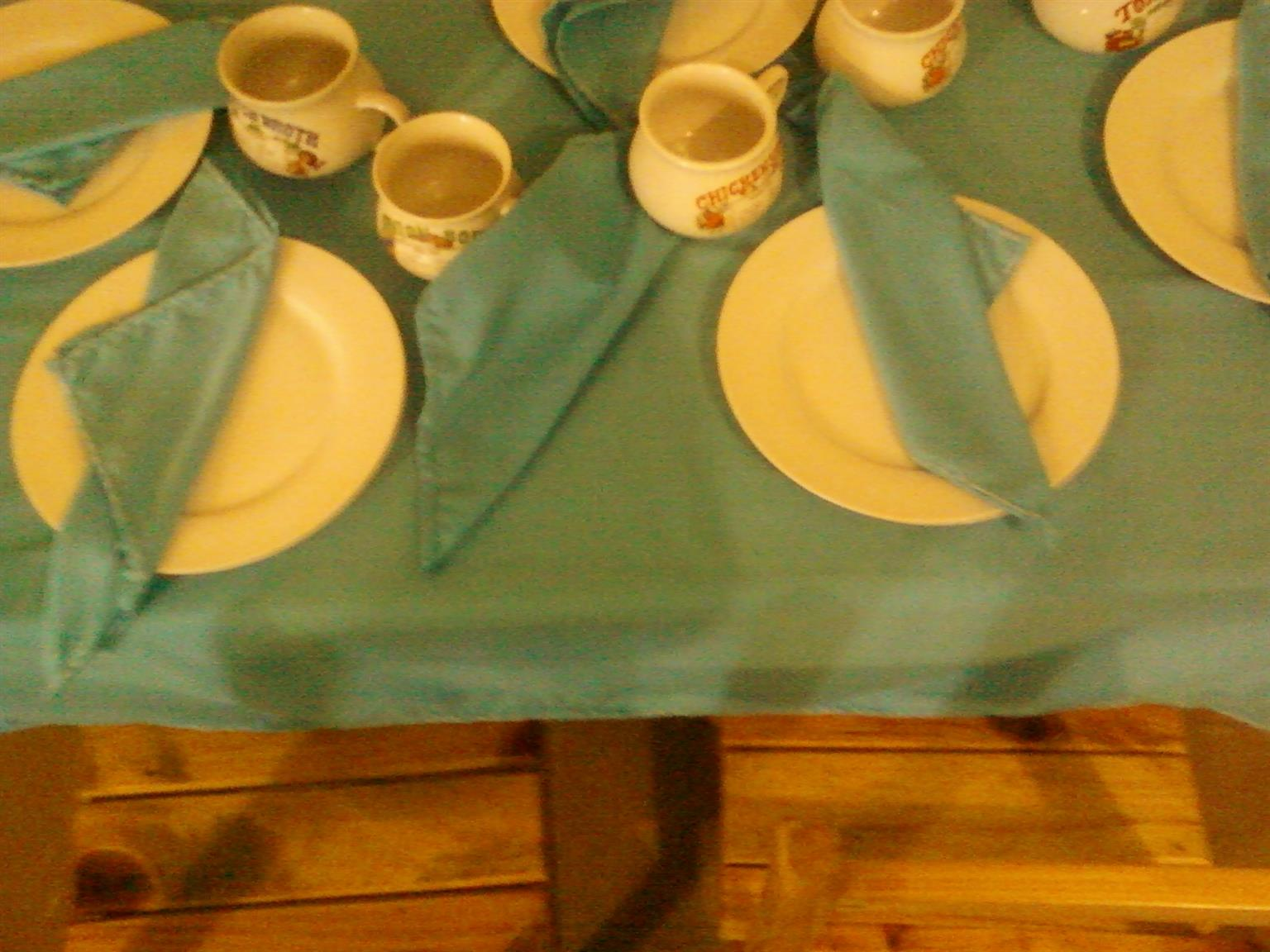 Beautiful Fabric Table Cloth and Servettes