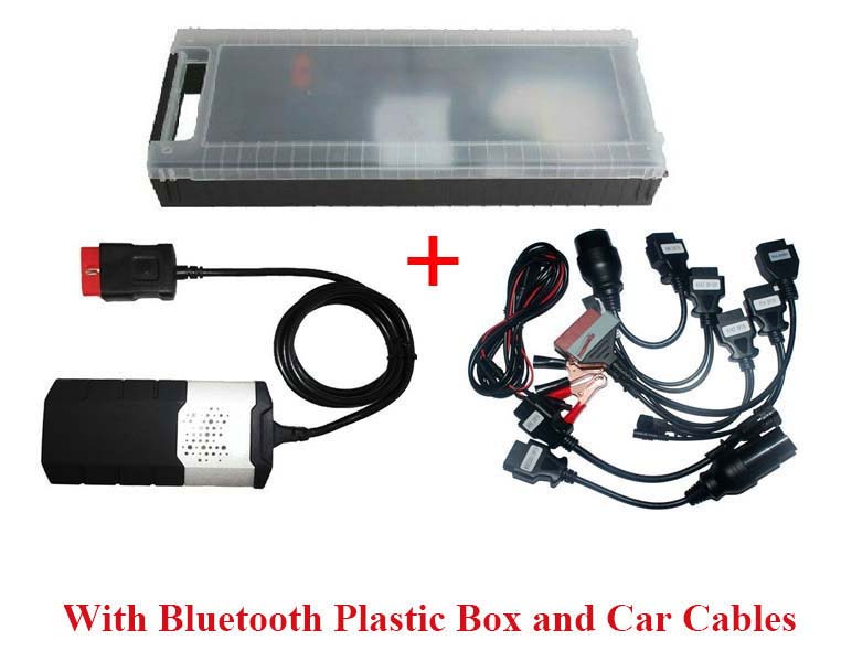 Auto Diagnostic: Delphi DS150E Pro Diagnostic Tool new in a Case with Bluetooth plus 8 Car Adapters