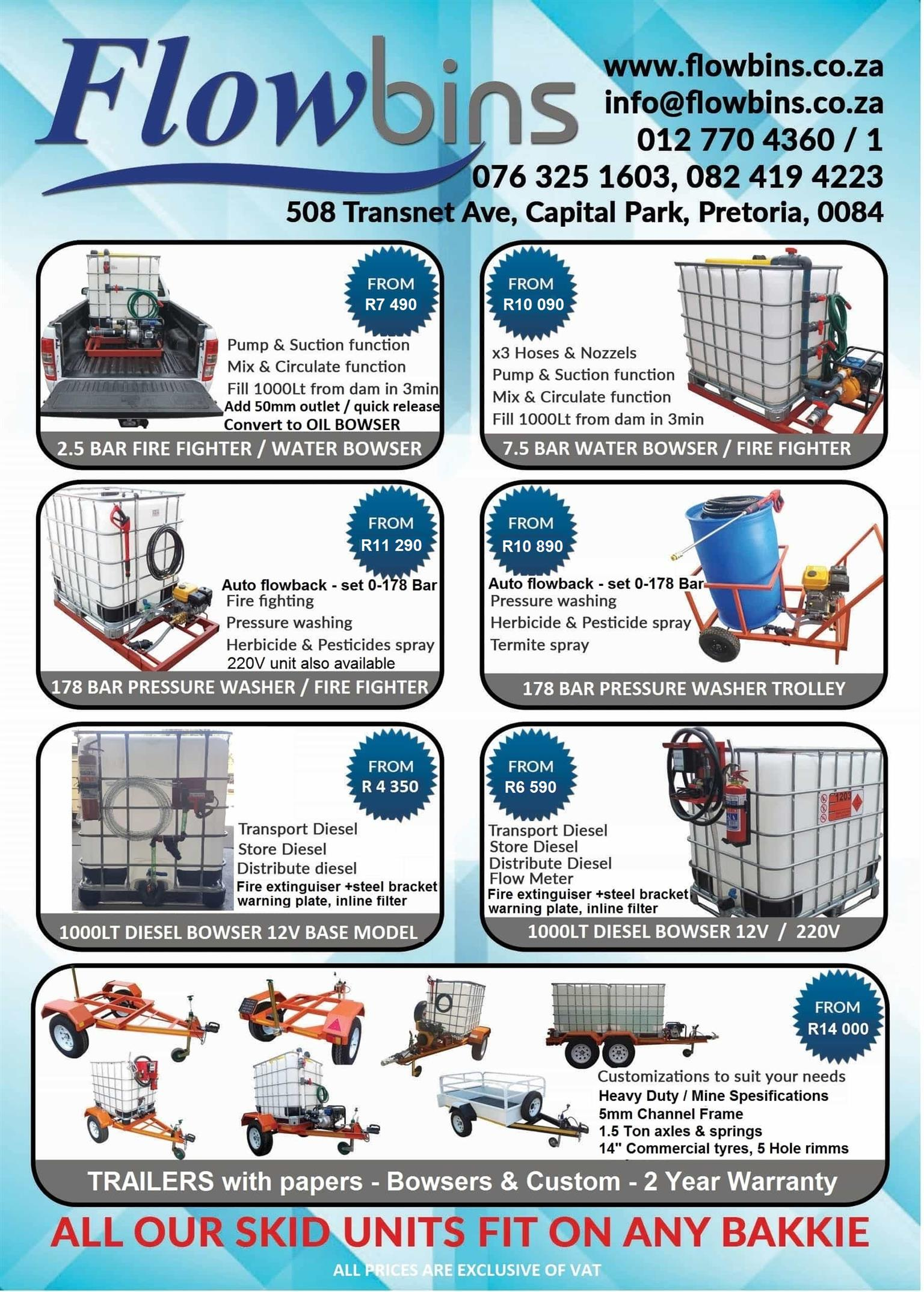 Gauteng: 1000L Flowbins (IBC): Adaptors, Spares, Piping & Fittings from R22