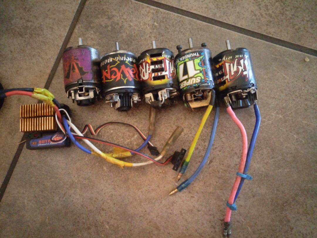 Brushed RC motors and ESC
