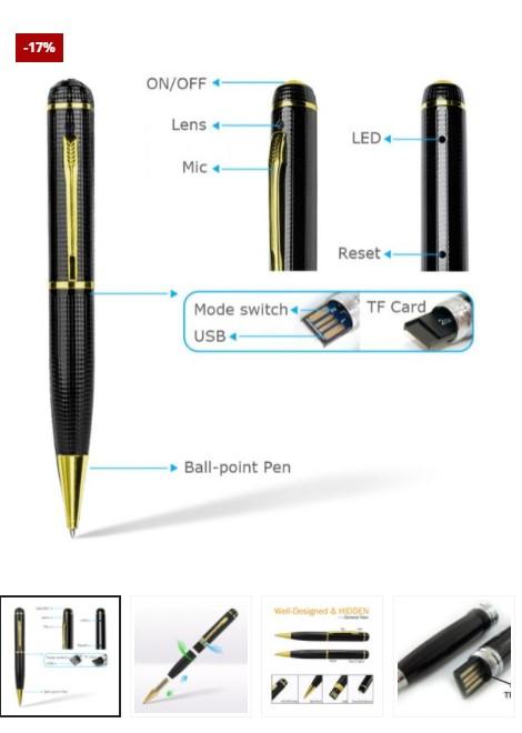 HD Camera Pen + Free 32GB