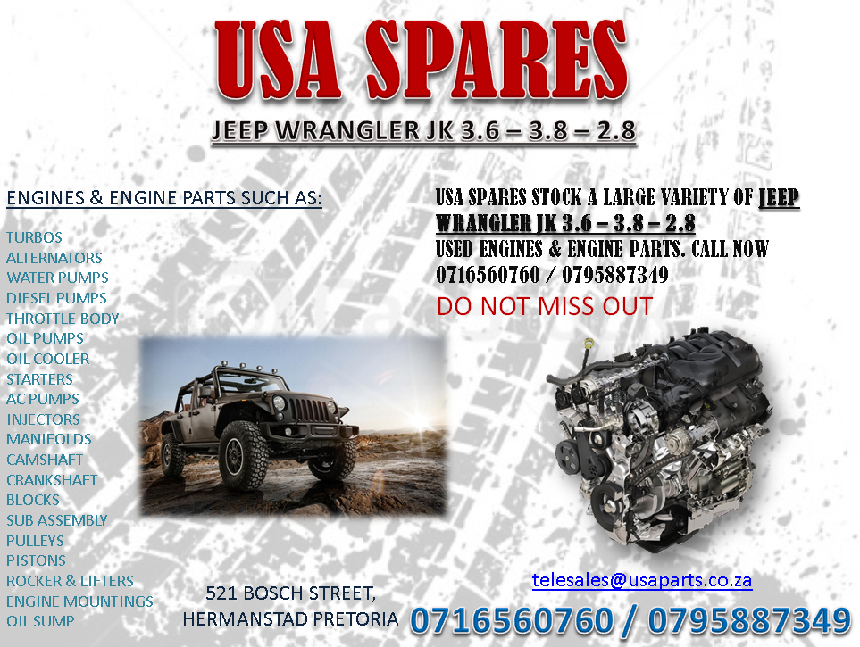 Used Jeep Wrangler Parts >> Jeep Wrangler Jk 2 8 3 6 3 8 Used Engines And Engine