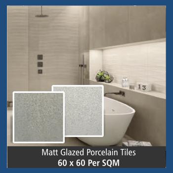Tile - Matt Glazed Porcelain 60X60 (Per square meter)