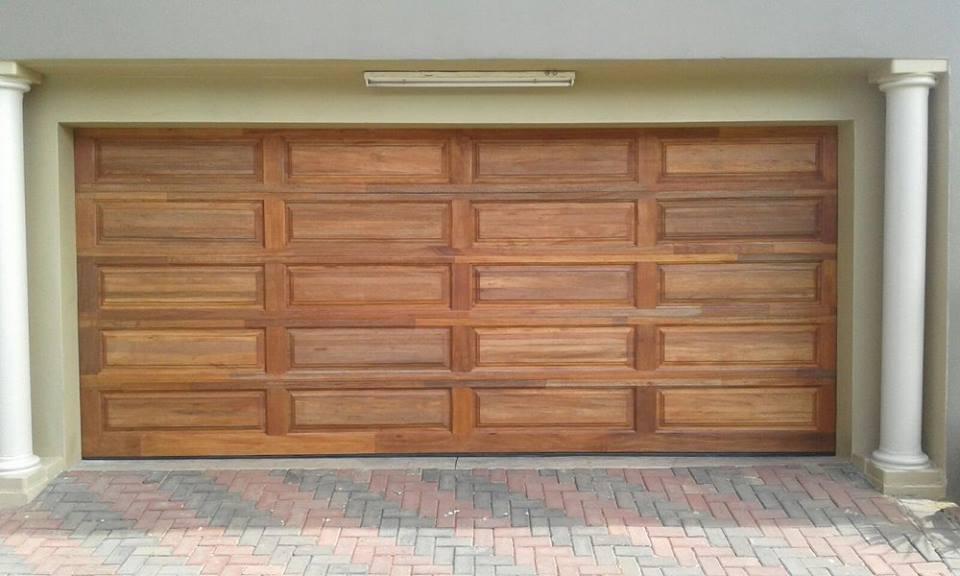 Double Wooden Meranti Garage Doors