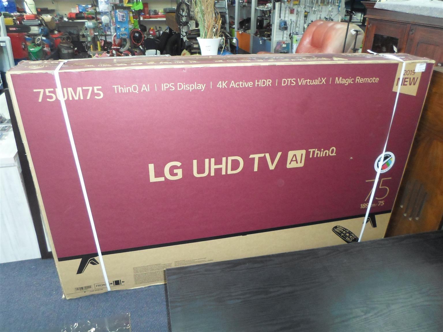 """75""""LG UHD 4K TV"""