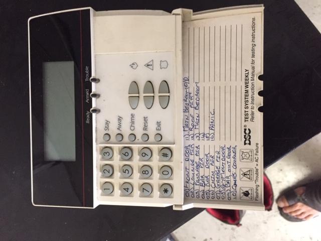 32 Zone Security Alarm Control Pad