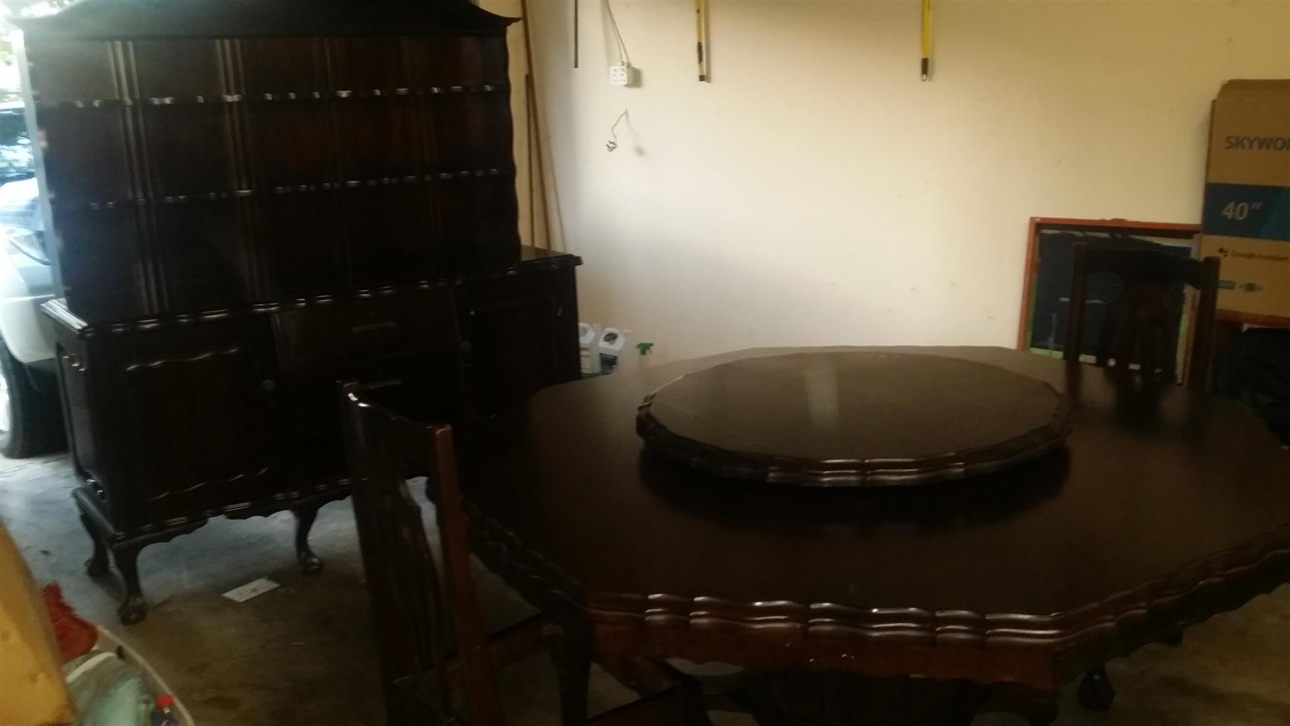 Ball and Claw Imbuia Dining Room Suite