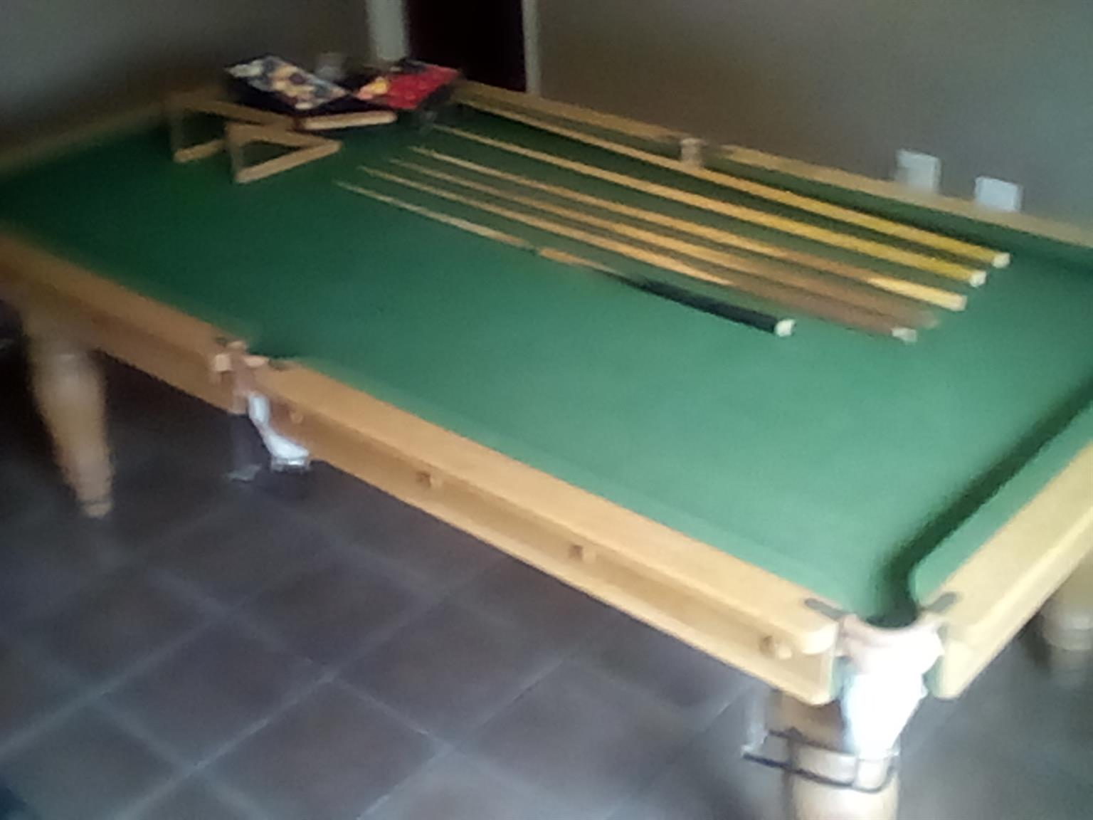 Snooker Table 1/4size.                 /4 size