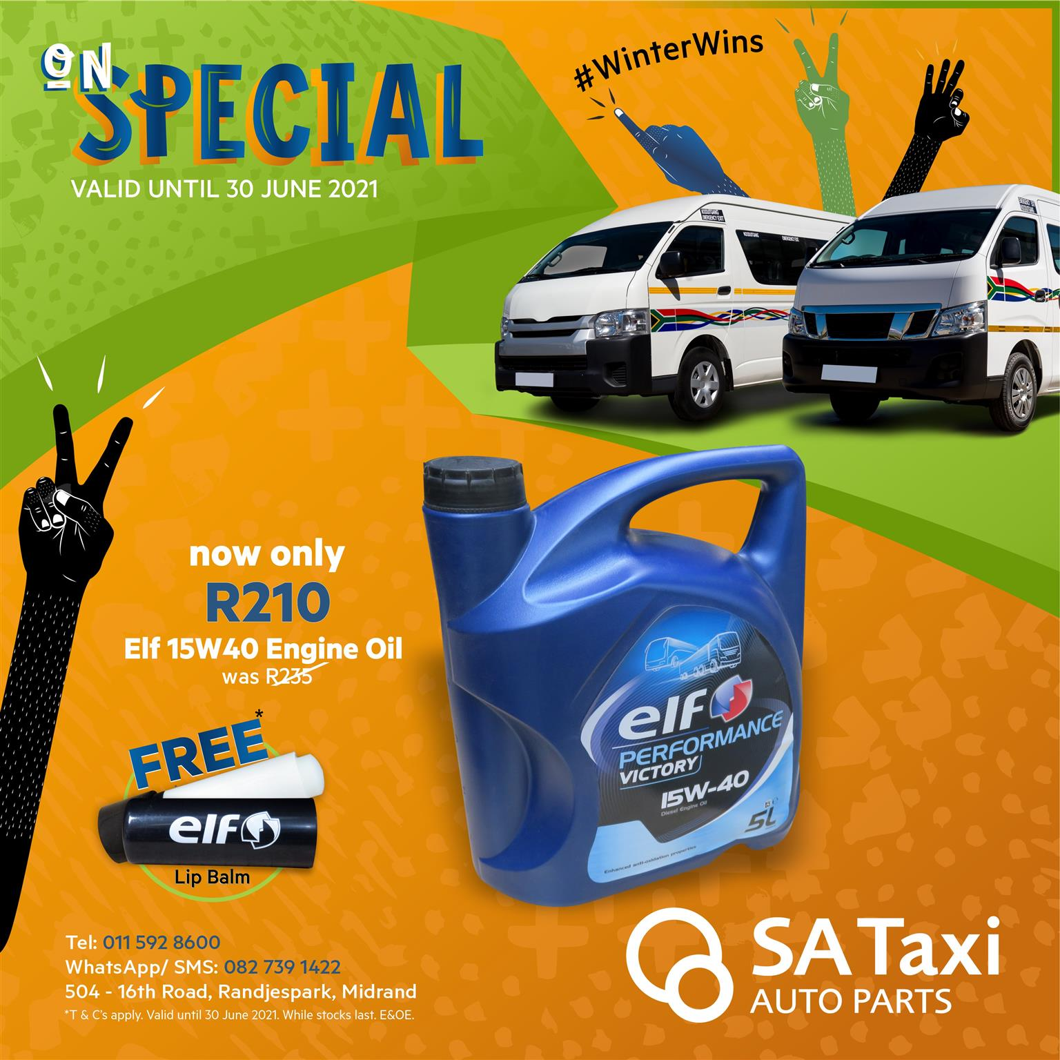 ON SPECIAL - Elf Engine Oil 15W40 for Toyota Quantum / Nissan NV350 Impendulo