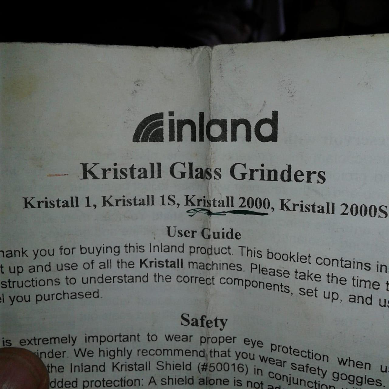 Kristall glass grinder