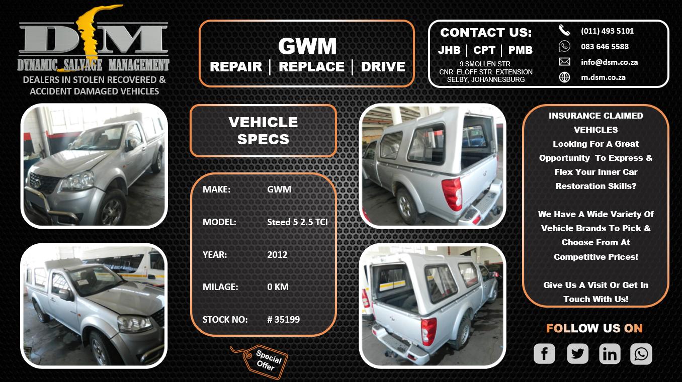 2012 GWM Steed 5 2.5 TCI