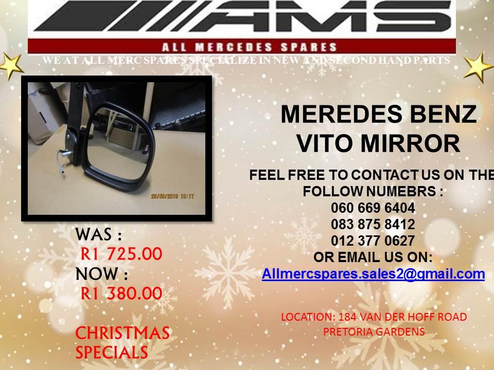 CHRISTMAS SPECIALS !!!! MERCEDES BENZ VITO MIRROR FOR SALE