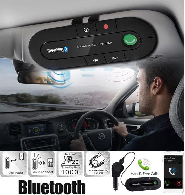 HANDS FREE BLUETOOTH SPEAKERPHONE CAR KIT (SUN VISOR MOUNT)