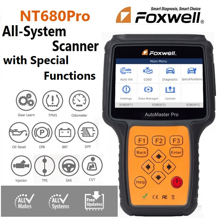 Foxwell NT680Pro All System Scanner With Special Functions NOW IN STOCK!!