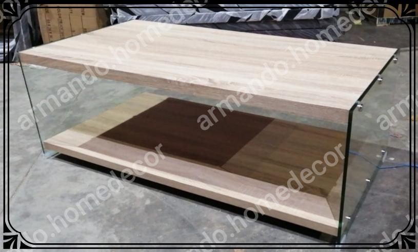 New glass & wood Coffee table