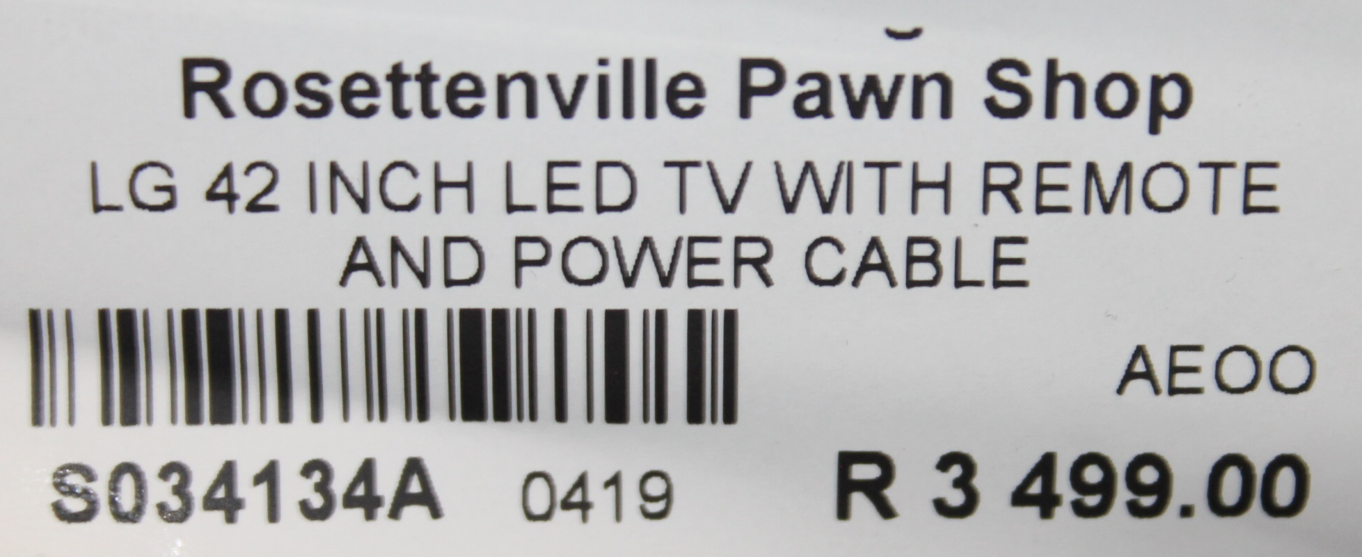 S034134A LG 42 inch LED tv #Rosettenvillepawnshop