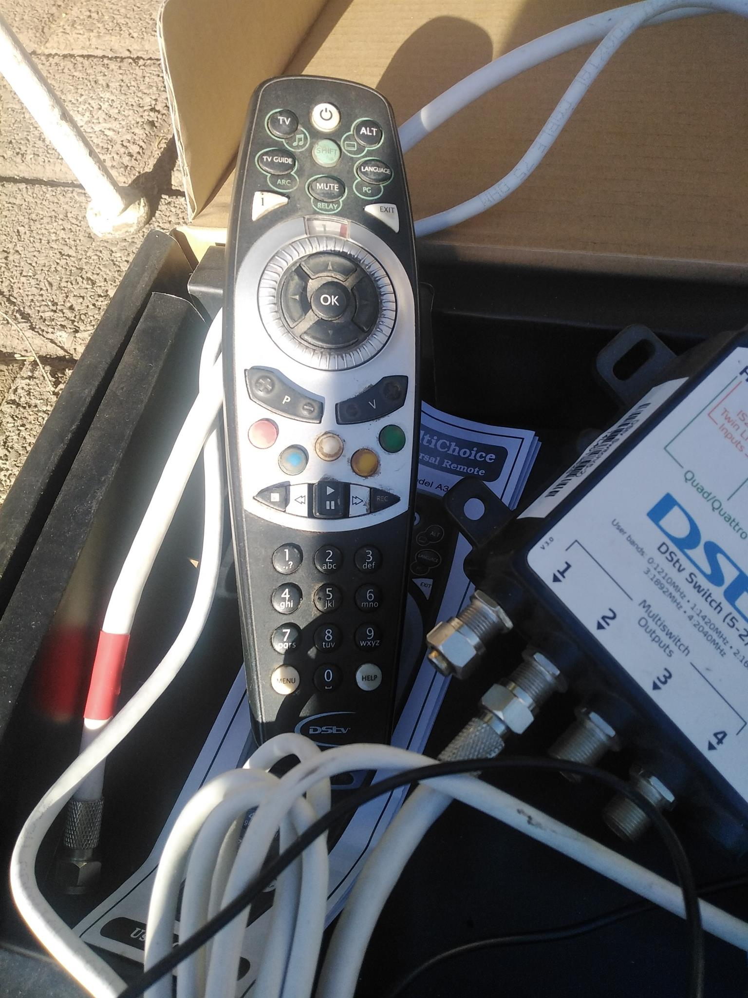 DSTV combo items, package