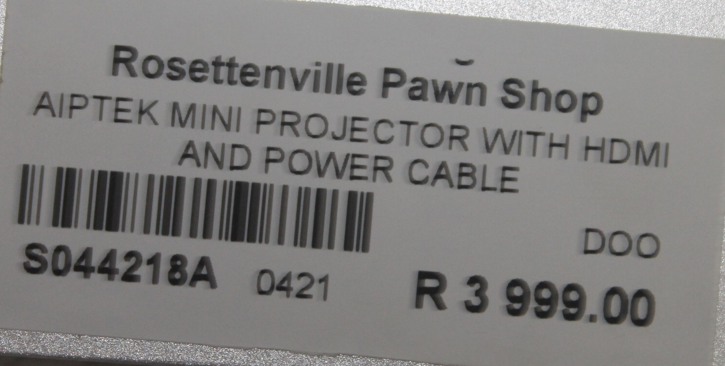 Apitek mini projector with hdmi and power cable S044218A #Rosettenvillepawnshop