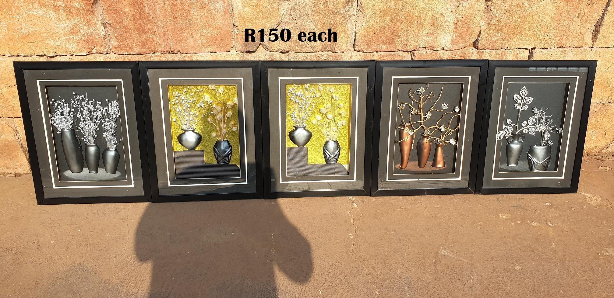 3D Framed Wall Hangings (425x540) EACH R150