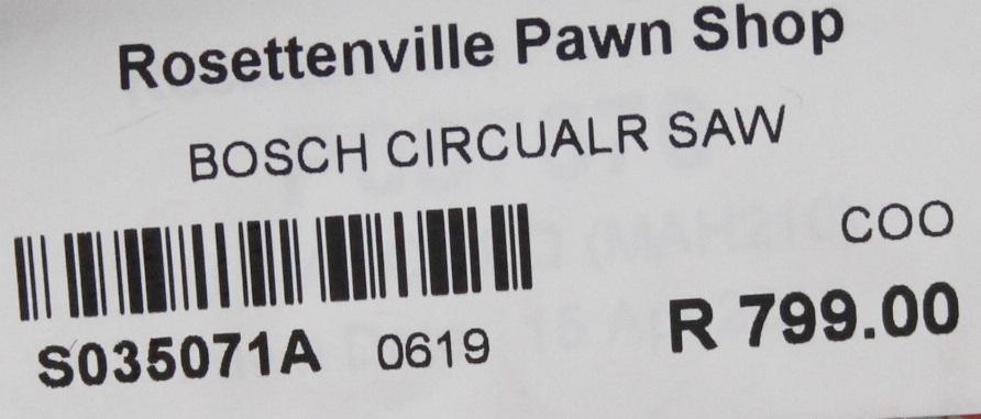 S035071A Bosch circular saw #Rosettenvillepawnshop