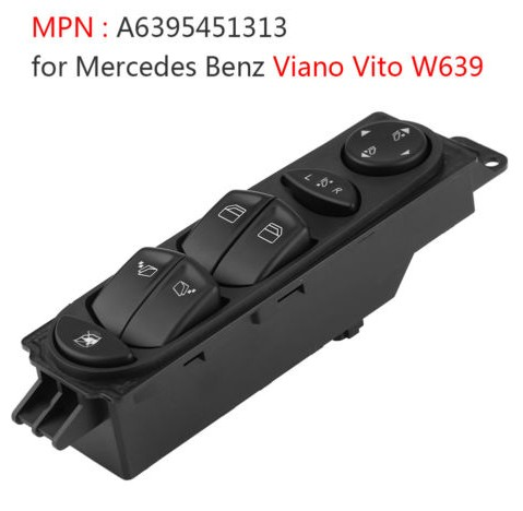 Power Master Window Control Switch for Mercedes Benz Viano Vito W639 A6395451313