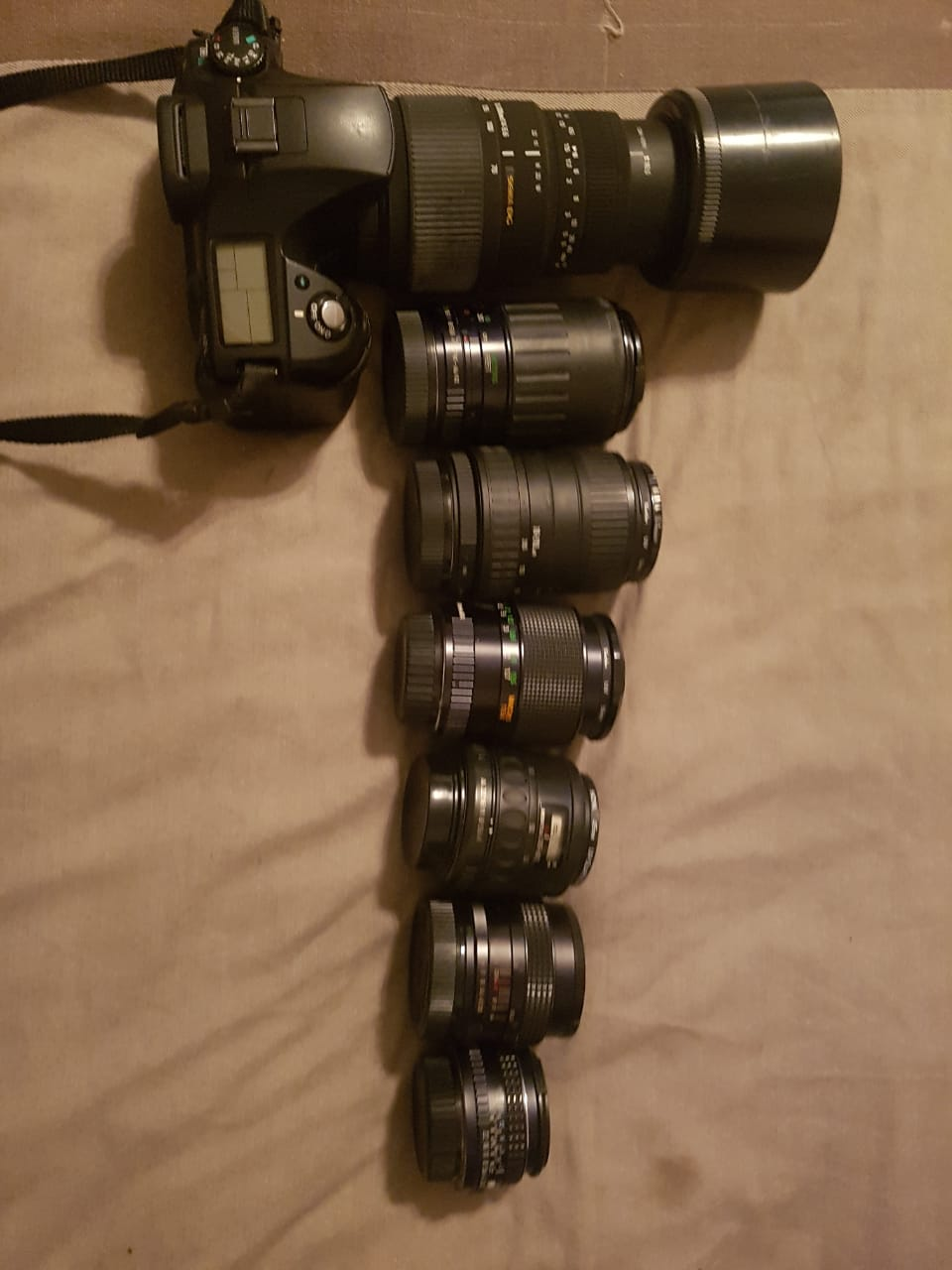 Pentax Camera K10 with a range of lenses