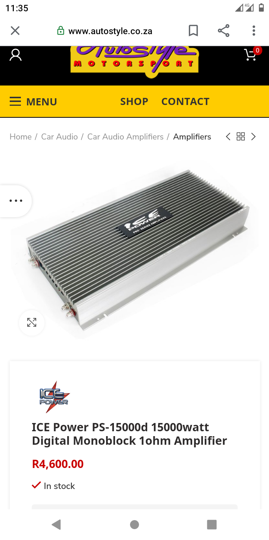 Icepower mono amplifier 20 000wats MOSFET one channel