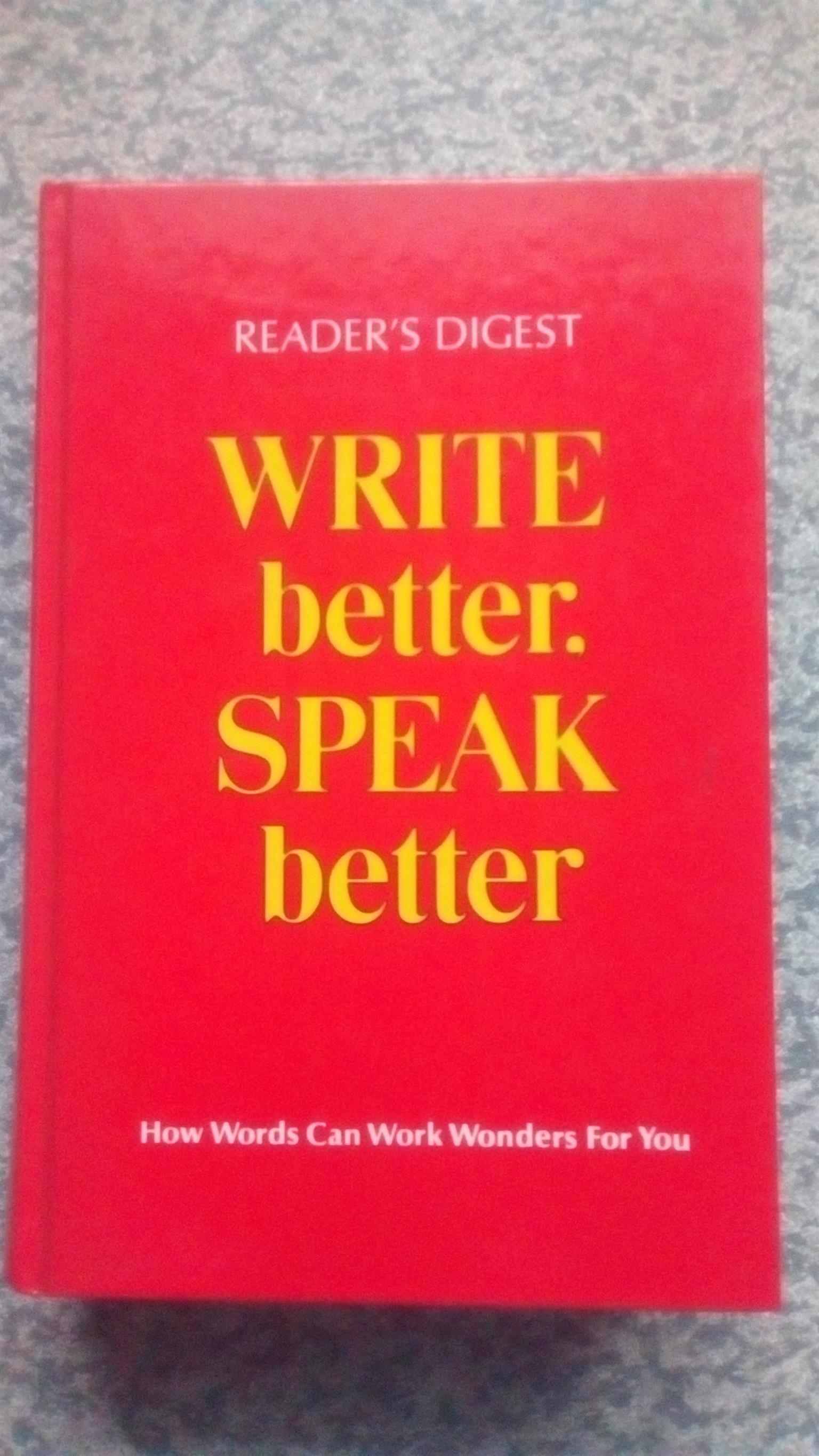 Reader's Digest Write better. Speak better
