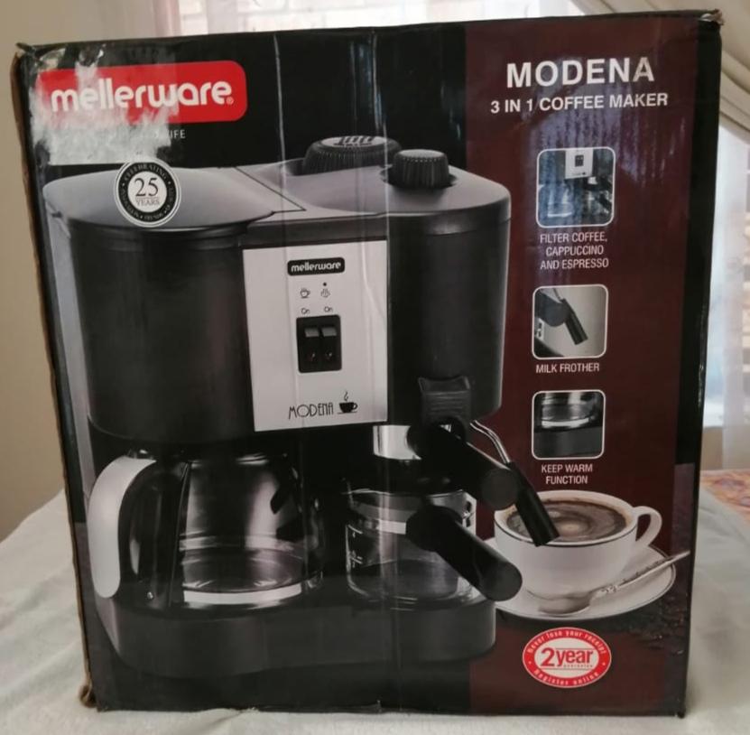 New Mellerware Modena 3 in 1 Coffee Maker