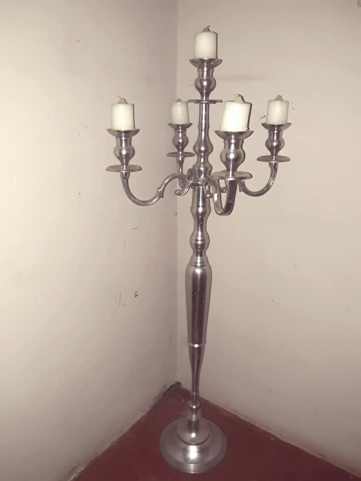 Silver candle holder for sale