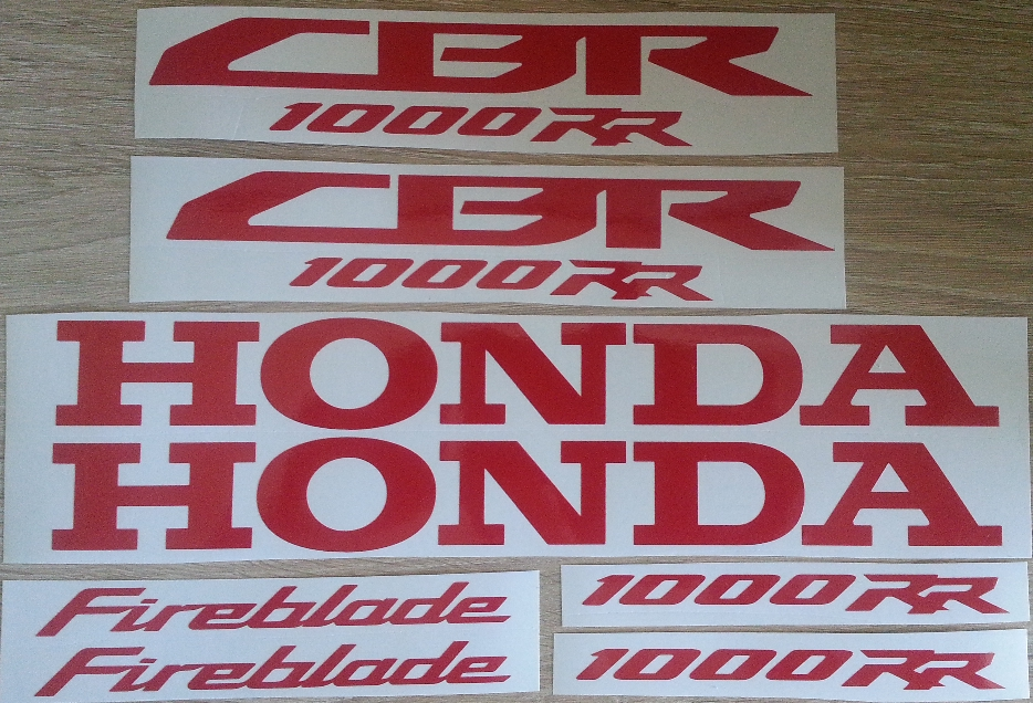 Decals stickers kit for 2008 Honda CBR 1000 RR motorcycles