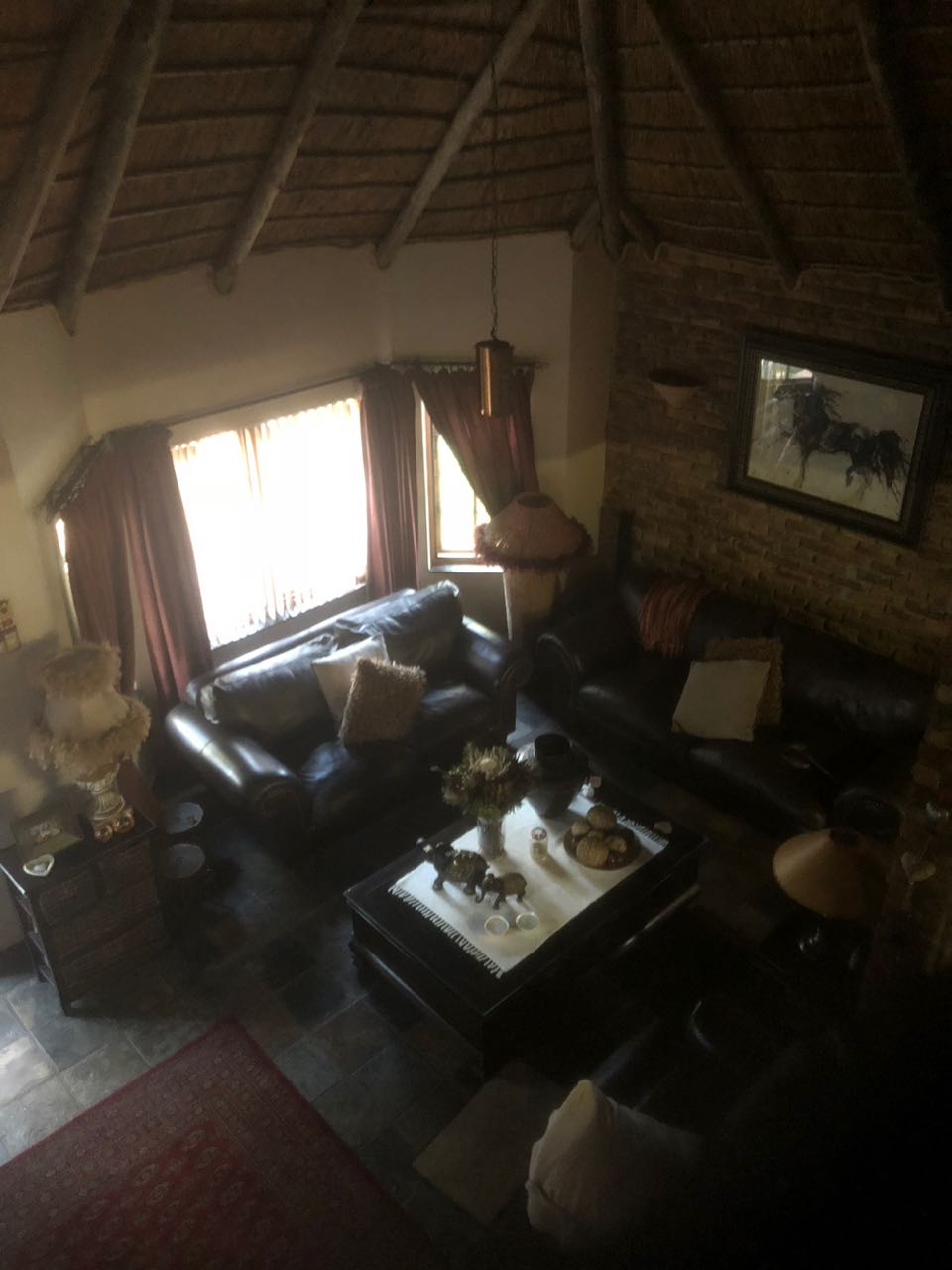 Beautiful double storey thatch roof duet with lapa and jacuzzi