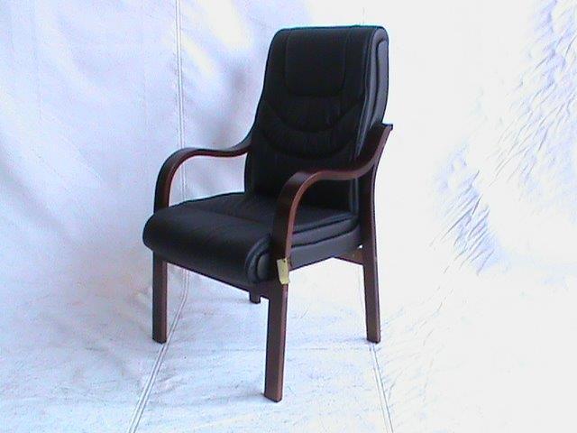 Black stiching visitor chair