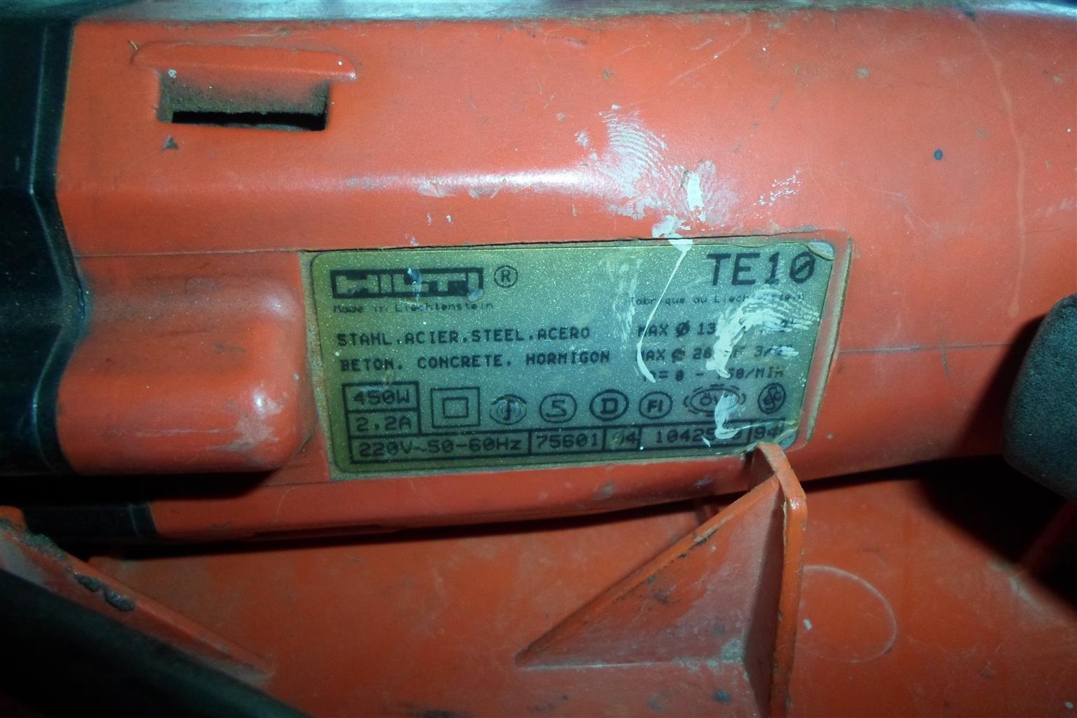450W Hilti TE-10 Drill