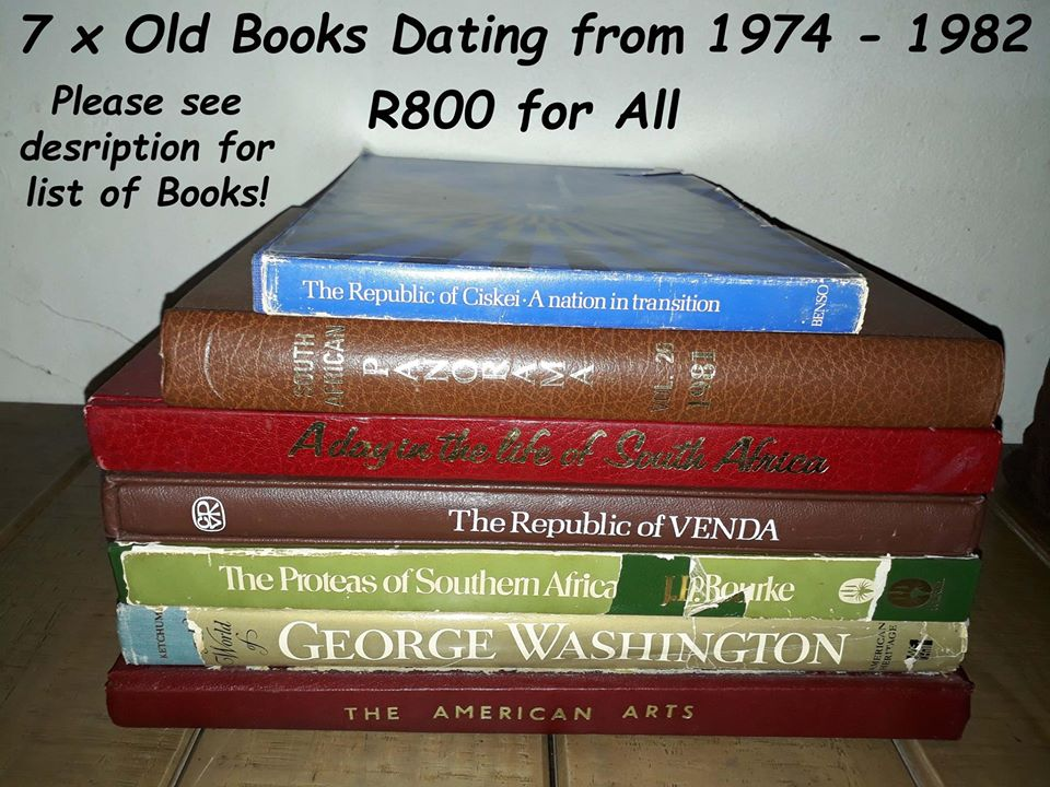 7 x Old Books Dating from 1974 – 1982