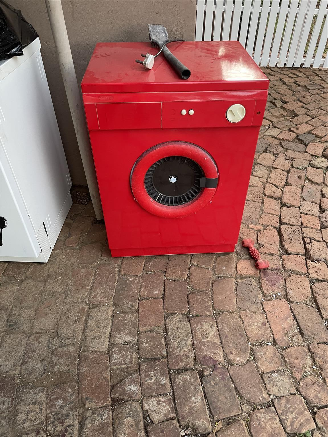 Tumble dryer red wrapped