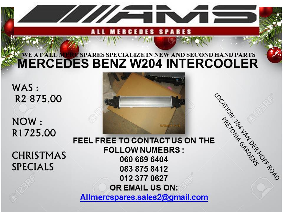 CHRISTMAS SPECIALS !!! MERCEDES W204 INTERCOOLER FOR SALE