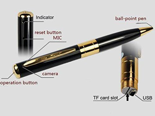 Spy Pen Digital HD Colour Video Audio Recorder with Micro SD Card Slot. Brand New Products.