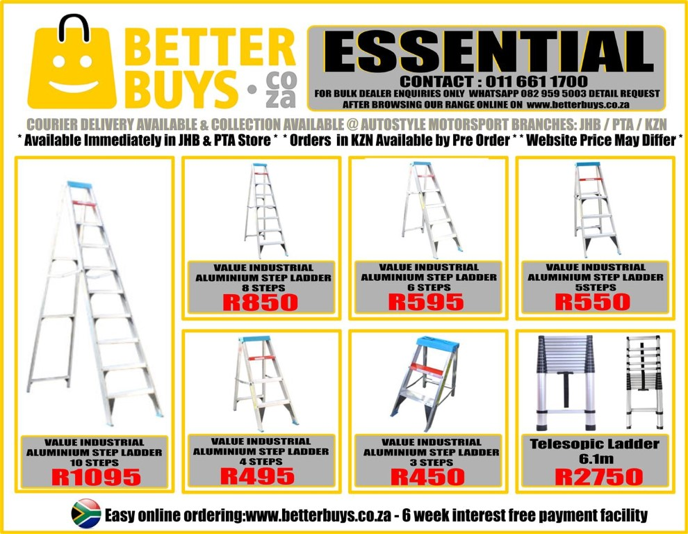 ValuStep Indusrial Aluminium Foldable Step ladders For sale