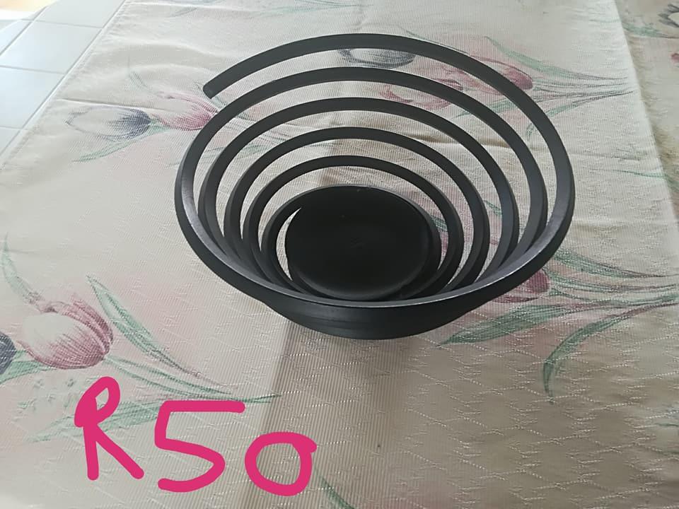 Black spiral vase for sale