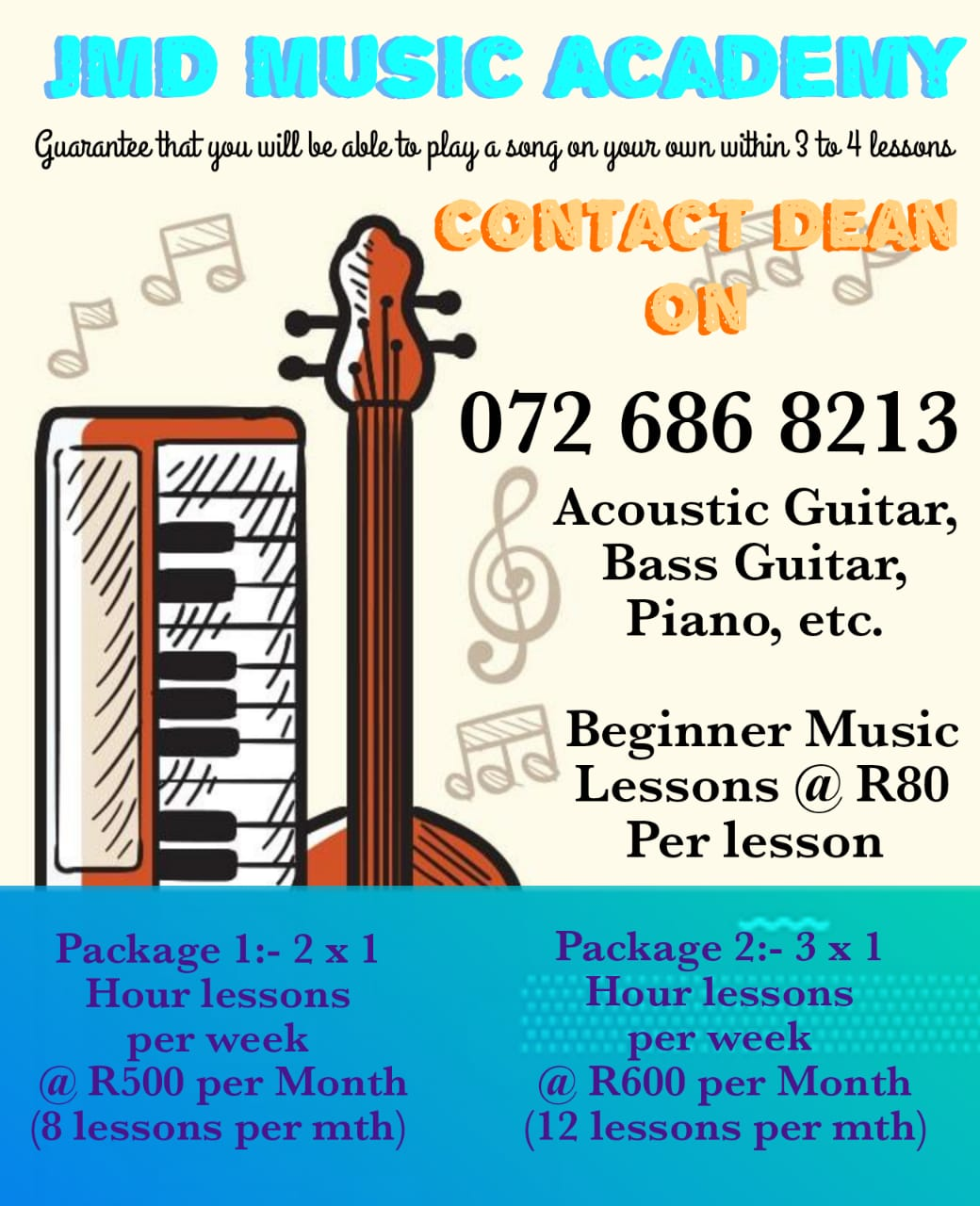 Music lessons offered in Phoenix