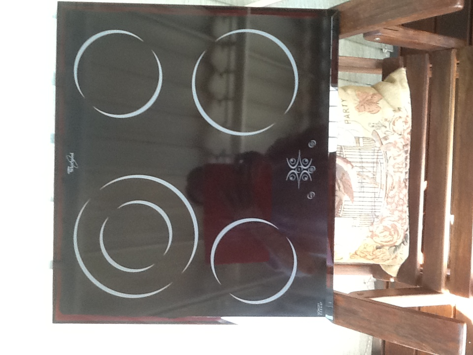 Electric glass top stove hob