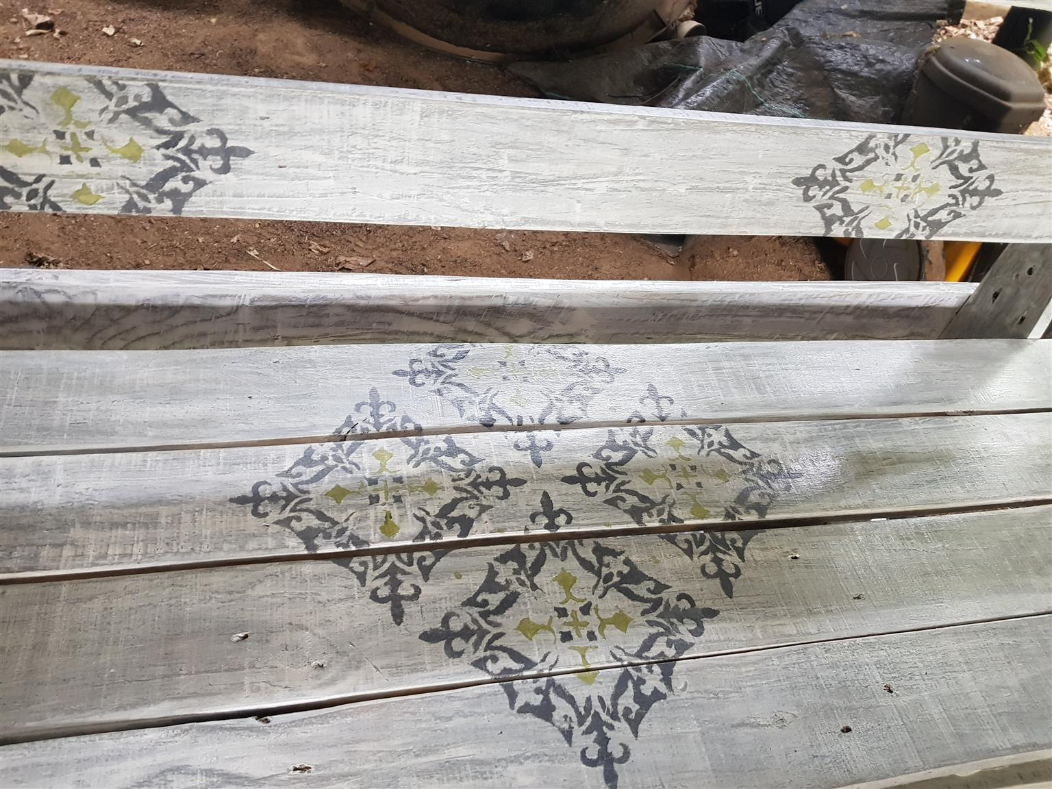 Painted and stenciled furniture